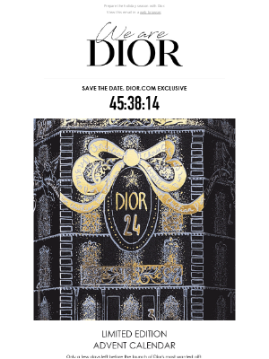 Dior - Coming Soon: Limited Edition Advent Calendar