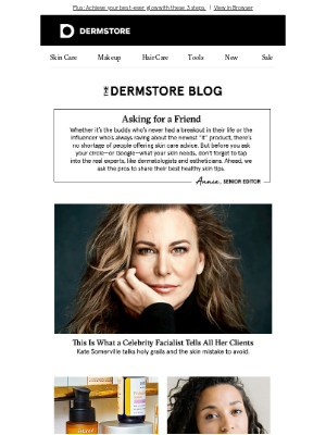 DermStore - Blog: What experts say you should do for better skin