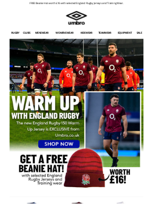 Umbro (UK) - Warm up for Match Day with England Rugby