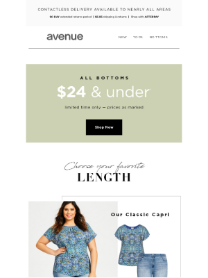Avenue Stores LLC - Great Lengths With All Bottoms $24 & Under*