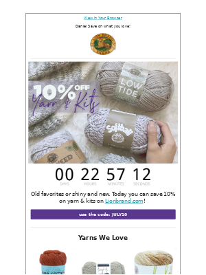10% Off Yarn & Kits!