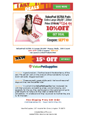 ValuePetSupplies - Daily Deals - Puppy Pads for BIG Dogs