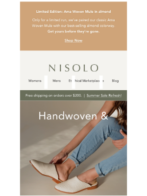 Nisolo - Handwoven & Perfectly Unique.