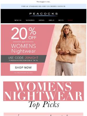 Peacocks (UK) - Our Women's Nightwear Top Picks