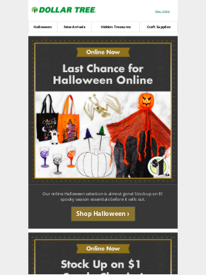Dollar Tree - 🎃 It's Not Too Late...