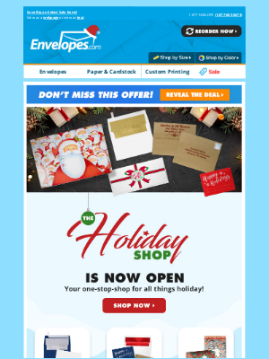 Envelopes.com - 🎀 NOW OPEN: The Holiday Shop! (+ save 10% on all print orders!)