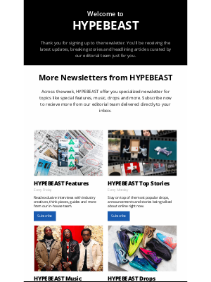 HYPEBEAST - Welcome to Hypebeast