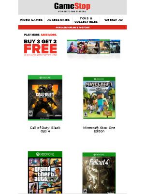 GameStop - Ending Soon! B3G2 Pre-Owned Games $29.99 & Under