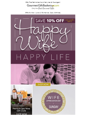 GourmetGiftBaskets - Get Shopping ⏰ Wife Appreciation Day is This Sunday