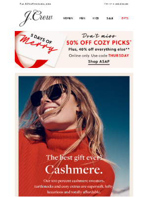 Cashmere under $75? Yes, please!
