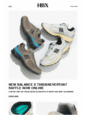 HYPEBEAST - Raffle Now: New Balance x thisisneverthat