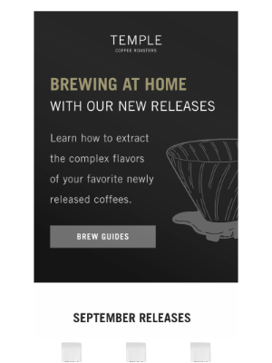 Temple Coffee Roasters - Brew Our Newest Coffee Releases at Home