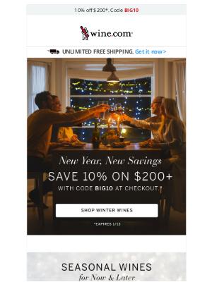 Wine - Expert Wine Picks for Winter + Save 10%