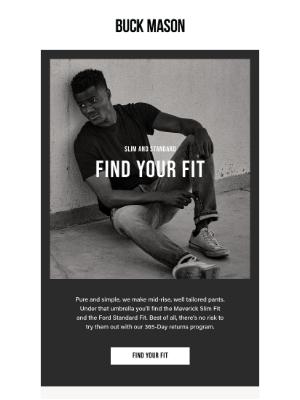 Buck Mason - Jeans + Pants: Find Your Fit