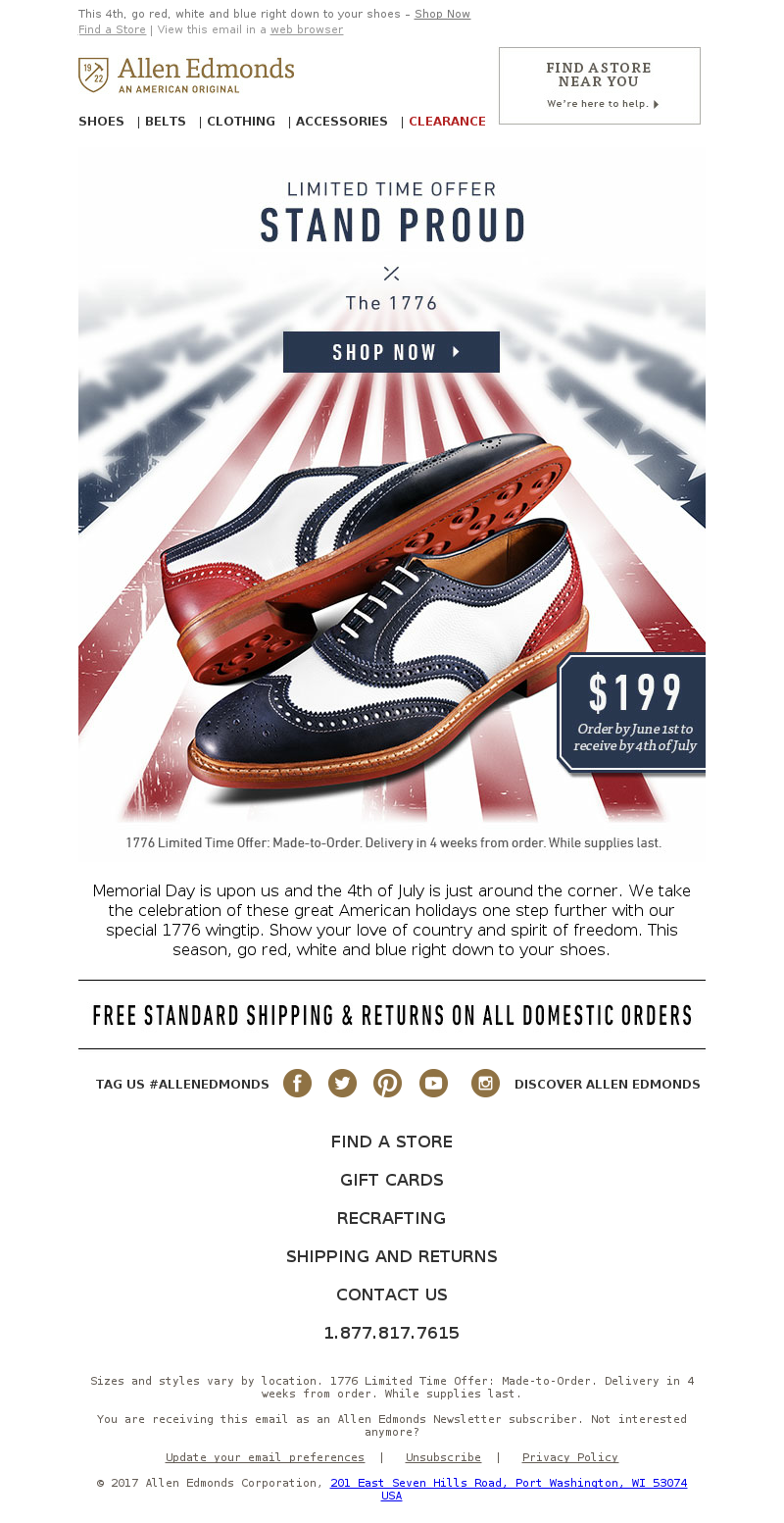This 4th, go red, white and blue right down to your shoes–ShopNow Find a