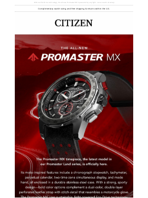 Citizen Watch Company - The Need for Speed: Introducing Promaster MX