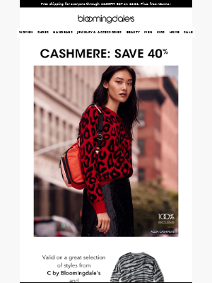 Save 40% on cashmere