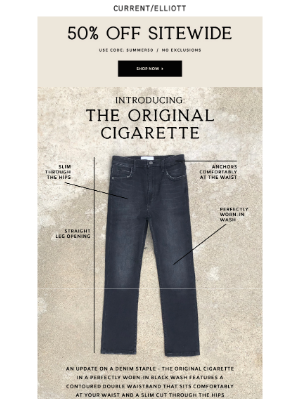 Just In: The Original Cigarette