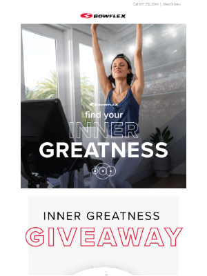 Bowflex - Inner Greatness Giveaway (Enter to win a VeloCore 22! 24 hours only.)