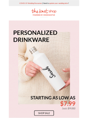 Shop Personalized Drinkware As Low As $7.99!