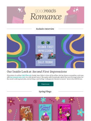 Goodreads - April Romances to Adore