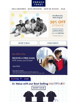 30% Sitewide Savings Starts Today