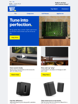 Best Buy - Everything sounds better with Sonos.