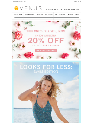 VENUS Fashion - A gift to all moms: enjoy 20% off select styles 💕