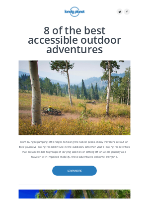 Lonely Planet - Best outdoor adventures for everyone