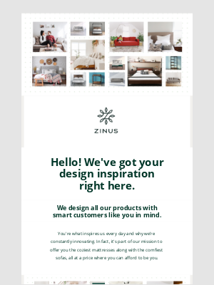 Zinus - Make your home feel more like you.