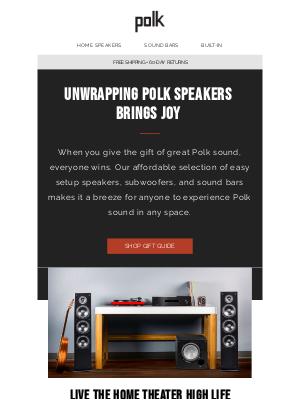 Polk Audio - Unwrap Polk's Gift Guide for Great Sound
