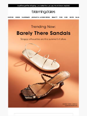 Barely there sandals are this summer's shoe crush