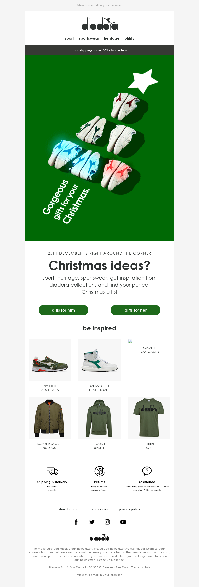 Diadora - worrying about Christmas presents? we can help 🎅