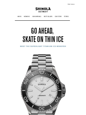 Shinola - Introducing: The Ice Monster Automatic