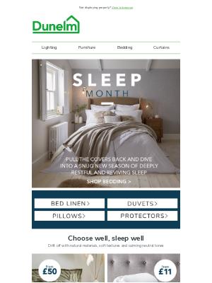 Dunelm (UK) - Sleeptember: try something different in bed