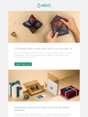 10 holiday party invites you'll wish you'd thought of | Packaging inspiration