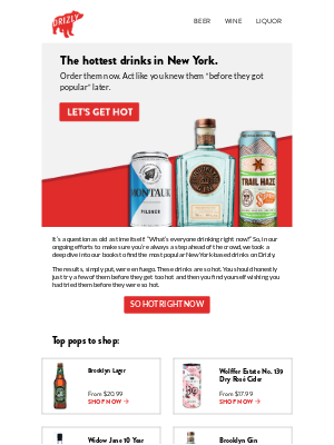 Drizly - What's everyone in New York drinking right now?
