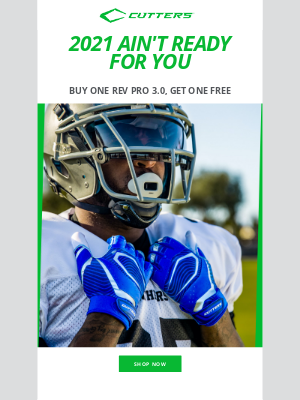 Cutters Sports - Buy 1, Get 1 FREE 🏆 Make 2021 Yours