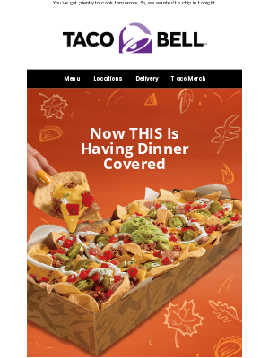 Taco Bell - Nachos Party Pack has tonight handled 😋