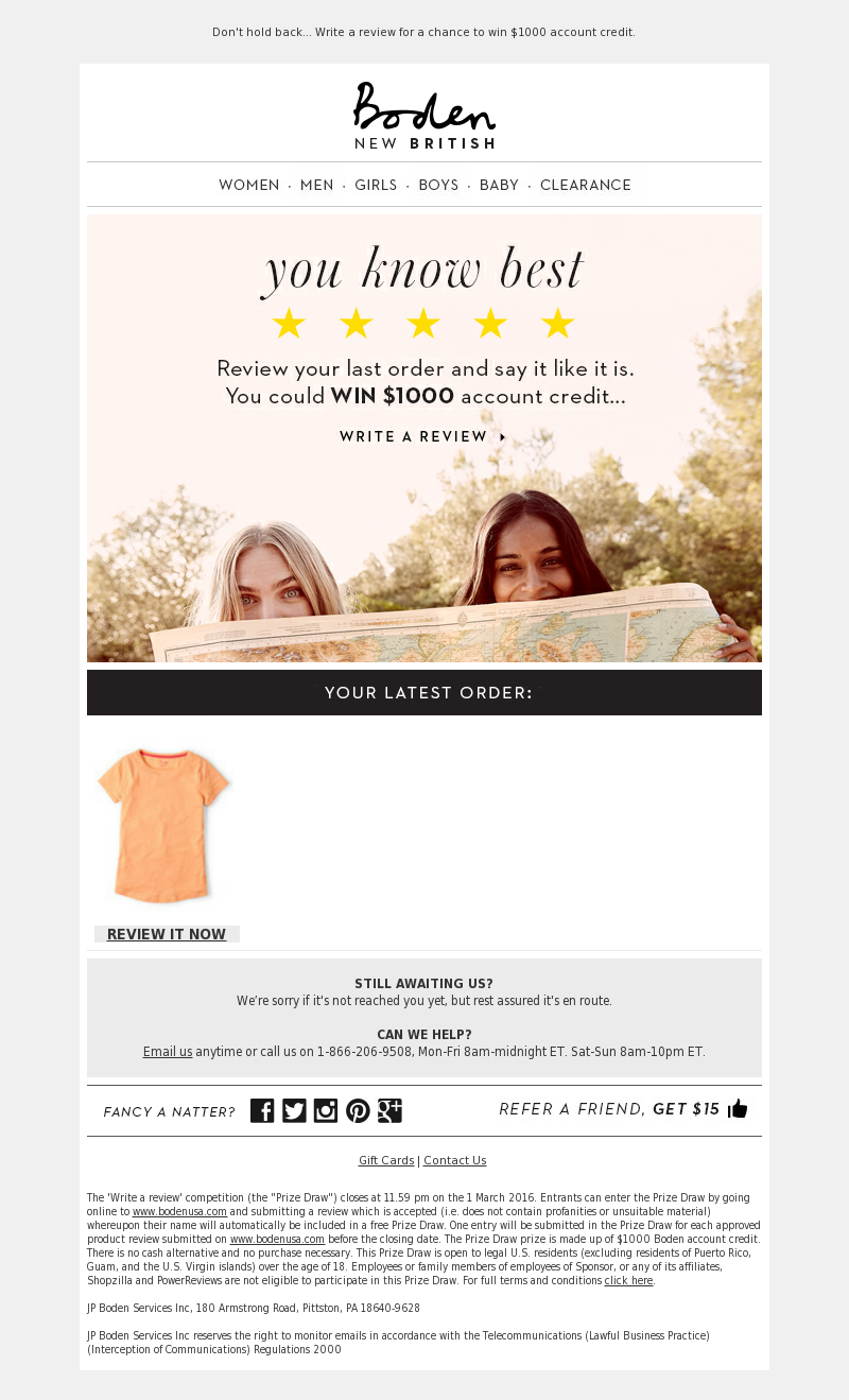 Boden (UK) - When it comes to reviews...