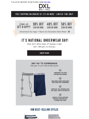 Say NO to Commando! It's National Underwear Day!
