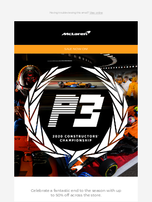 McLaren - Celebrate P3 with up to 50% off! 🥉