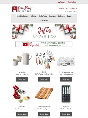 Everything Kitchens - Gifts under $100 🎄