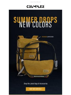Crumpler - Summer Drops & New Colours | Shop the Latest