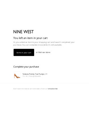 Nine West - Complete Your Nine West Purchase.