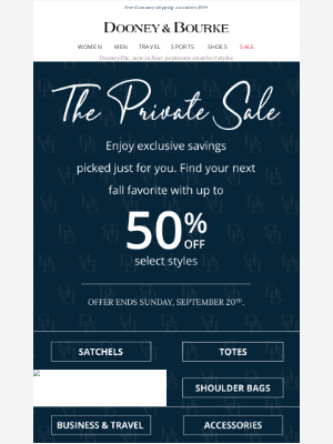 Dooney & Bourke - The Private Sale starts now!