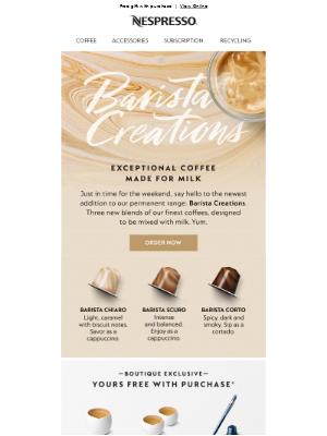New! 3 blends for your coffee creations