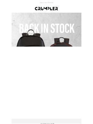 Crumpler - Back in Stock | Your Favourite Backpacks & Accessories