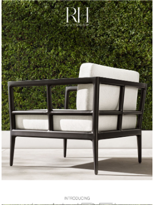 Restoration Hardware - Laurel & Greystone. Classic Outdoor Collections by Ann Marie Vering.