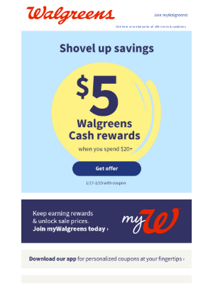 Walgreens - Don't forget! Join myWalgreens to keep earning benefits & unlock sale prices!